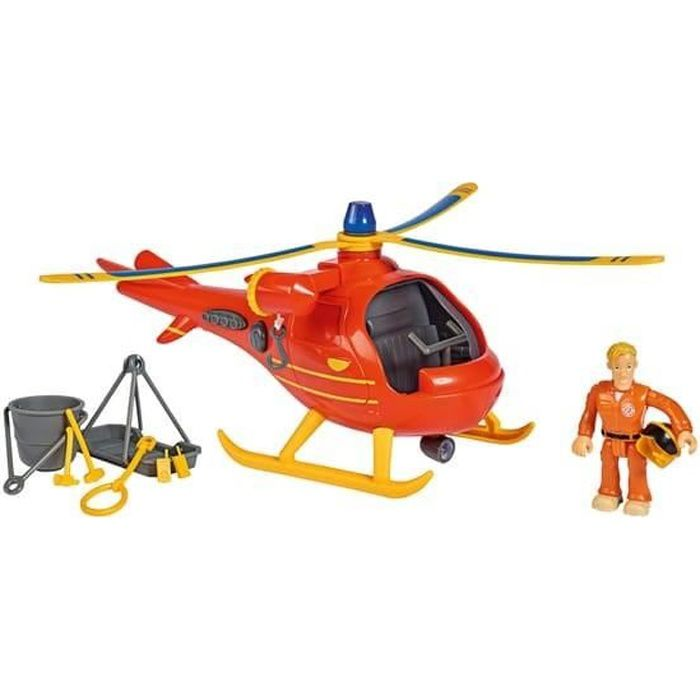 SAM LE POMPIER Helicoptere Wallaby 1 + Figurine - SMOBY