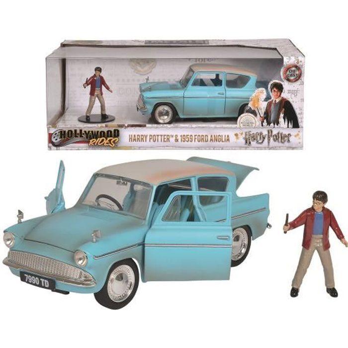 MAJORETTE Harry Potter Ford Anglia 1959 + Figurine - 1/24ème