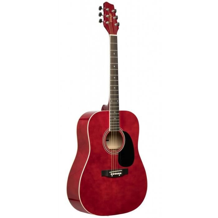 STAGG Guitare Folk SA20D - Rouge