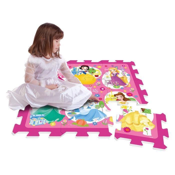 DISNEY PRINCESSES Tapis Puzzle Mousse 9 Pièces Avec Sacoche