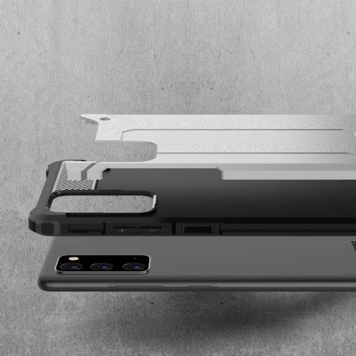 Coque Samsung Galaxy Note 20Ultra Slim 2 en 1 Antichoc Cas de Protection des Téléphones Écran TPU PC Noir