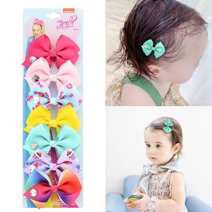 SP 20Pcs bébé fille à pois cheveux arcs bandeau Boutique Alligator Pince Gros-Grain Ruban