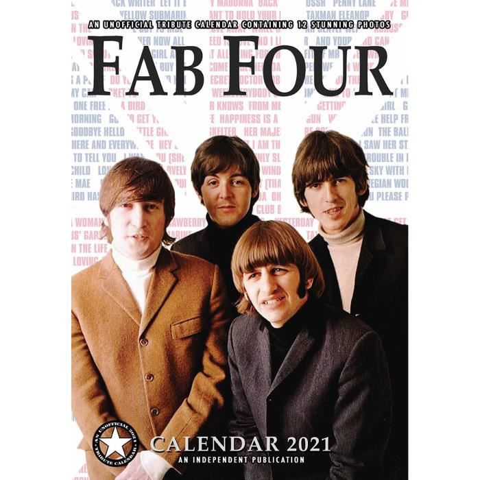 Calendrier 2021 Beatles format A3   Achat / Vente calendrier