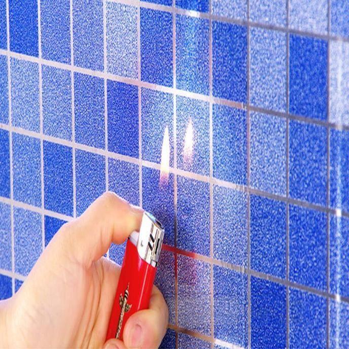 La Salle De Bains Toilettes Impermeable Autocollants Auto Adhesifs Papier Peint De Tuile De Mosaique Www60728425bu 1904 Bleu Achat Vente Stickers Cdiscount