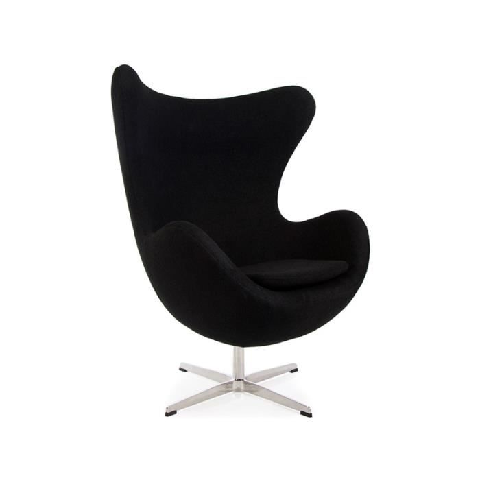 fauteuil egg arne jacobsen noir achat vente fauteuil. Black Bedroom Furniture Sets. Home Design Ideas