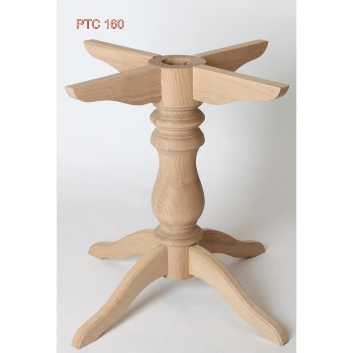 Pied Table Central En Hetre Achat Vente Pied De Table Pied