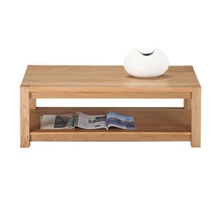 Table basse rectangle ch ne clair 120 cm achat vente table basse table ba - Table basse 50 cm hauteur ...