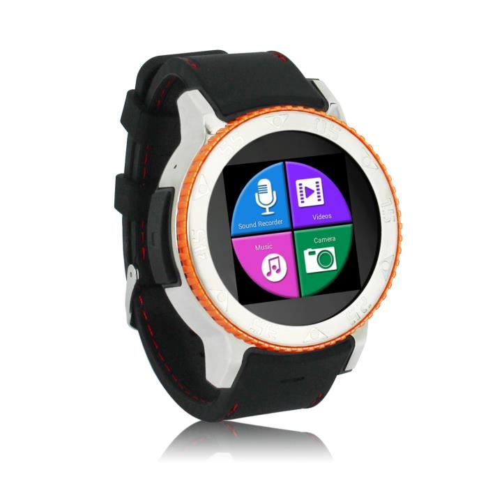montre connect e sport gps wifi 3g waterproof orange achat vente montre connect e montre. Black Bedroom Furniture Sets. Home Design Ideas