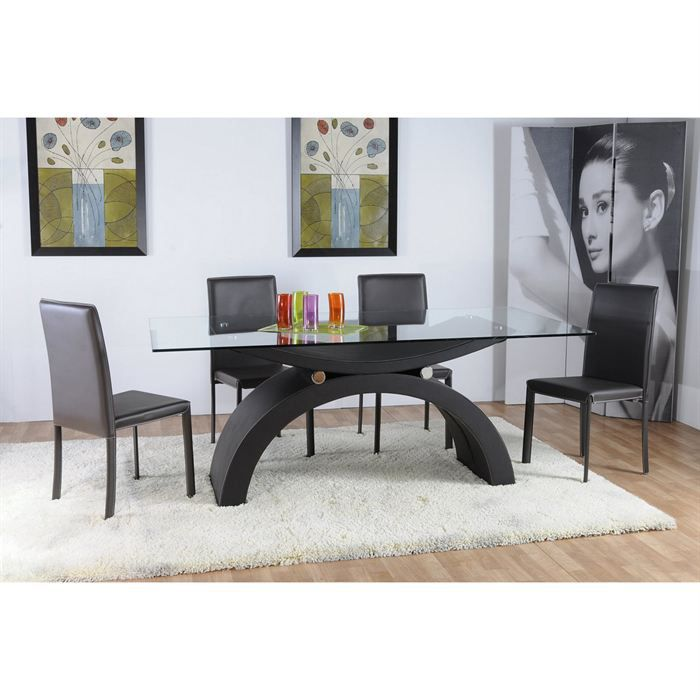 table de repas salle manger bois laqu achat vente table a manger seule table de repas. Black Bedroom Furniture Sets. Home Design Ideas