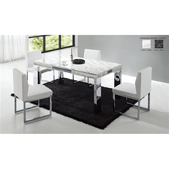 table de repas design marbre blanche achat vente table manger table de repas design marbre. Black Bedroom Furniture Sets. Home Design Ideas
