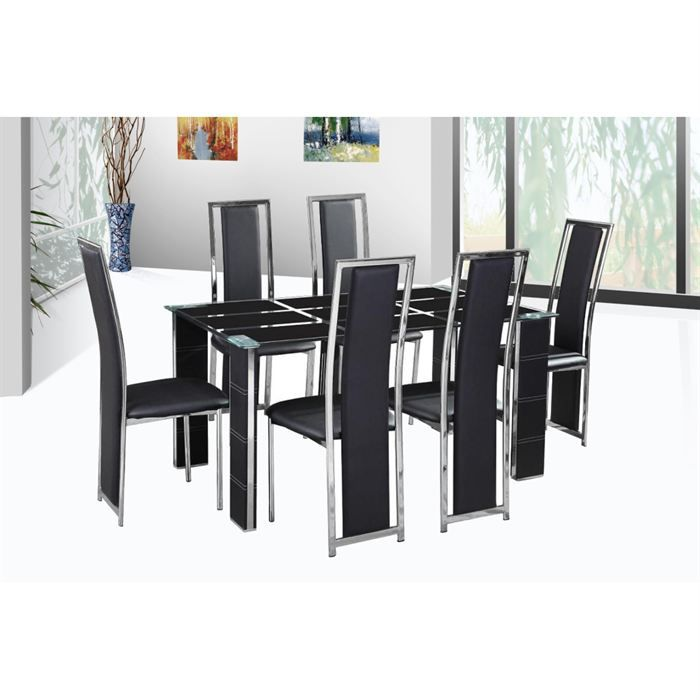 table de repas design polyur thane noir adele achat. Black Bedroom Furniture Sets. Home Design Ideas