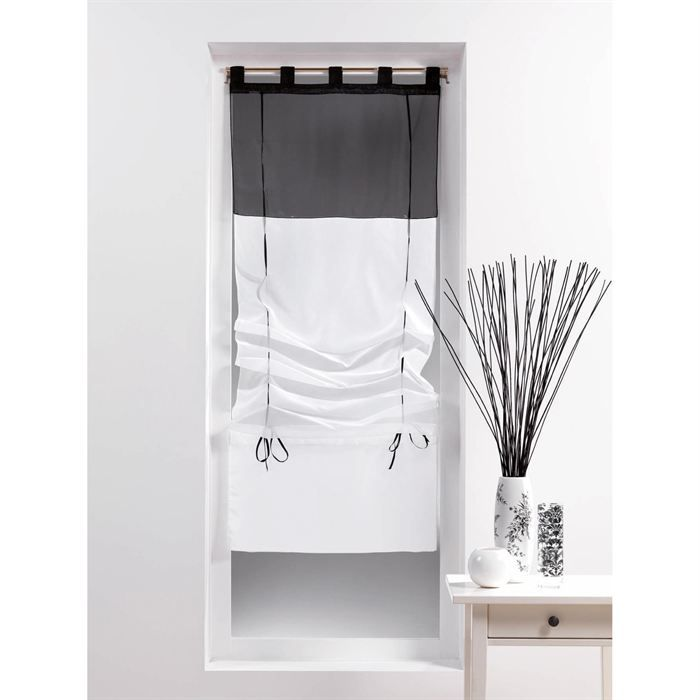 store bateau voile 45x180 bicolore achat vente store de fen tre tissu 100 polyester. Black Bedroom Furniture Sets. Home Design Ideas
