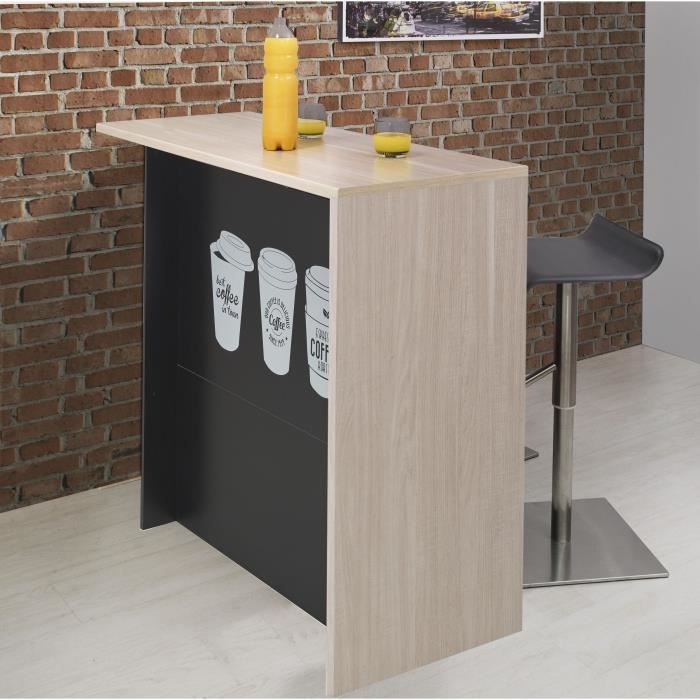 coffee ilot de cuisine avec plan de travail l 120 cm. Black Bedroom Furniture Sets. Home Design Ideas