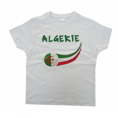 t shirt algerie blanc achat vente t shirt cdiscount. Black Bedroom Furniture Sets. Home Design Ideas