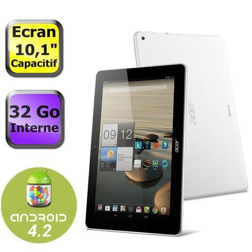 Acer iconia a3 a10 32go blanc prix pas cher cdiscount - Tablette tactile pas cher darty ...