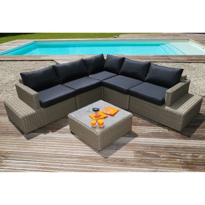 salon de jardin miami achat vente salon de jardin miami pas cher les soldes sur cdiscount. Black Bedroom Furniture Sets. Home Design Ideas