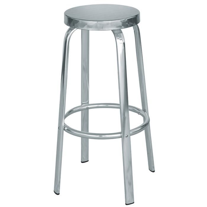 tabouret de bar aluminium achat vente tabouret de bar aluminium pas cher les soldes sur. Black Bedroom Furniture Sets. Home Design Ideas
