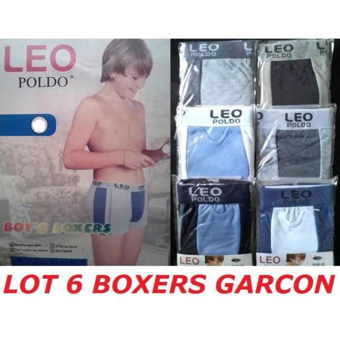 lot 6 boxers gar on taille 10 12 ans slip enfant achat vente boxer shorty lot 6 boxers. Black Bedroom Furniture Sets. Home Design Ideas