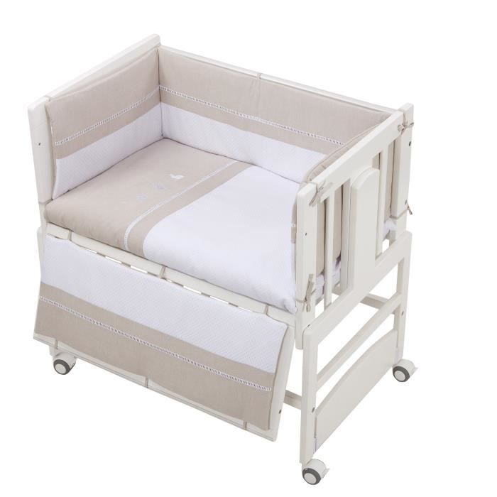 bolin bolon parure et tour de lit berceau et co dodo blanc achat vente parure de lit b b. Black Bedroom Furniture Sets. Home Design Ideas