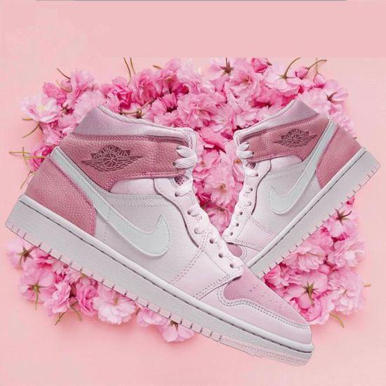 Airs Jordans 1 Mid Femme Jordans One Digital Pink Chaussures de ...