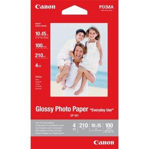 PAPIER PHOTO CANON Papier Photo Glacé  GP-501 - 210g - 100 Feui