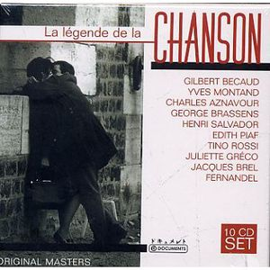 CD VARIÉTÉ FRANÇAISE LA LEGENDE DE LA CHANSON