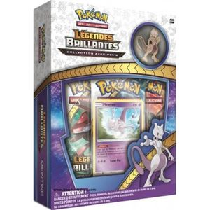 CARTE A COLLECTIONNER Pokemon Coffret pin's Mewtwo Legendes Brillantes -