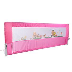Barri/ères lit 180/cm lit pliant Garde denfant Rail de s/écurit/é Rail de lit individuel respirant rose