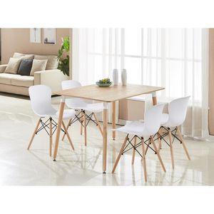 CHAISE Table de salle à manger moderne marron et lot de 4