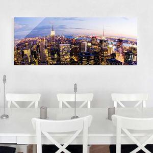 CADRE PHOTO 40x100 cm photo en verre - ligne d'horizon de new