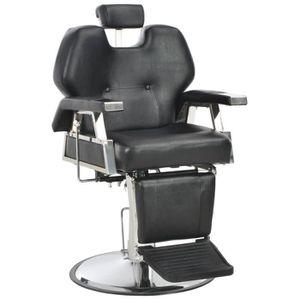 FAUTEUIL DE COIFFURE - BARBIER Chaise de barbier Noir 72x68x98 cm Similicuir - Ap