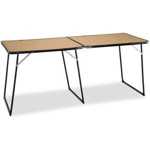 TABLE DE CAMPING EREDU Table Double Pliante camping 808/Ds - 160 x