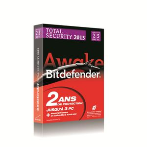 ANTIVIRUS Bitdefender Total Security 2013 - 2 ans - 3 postes