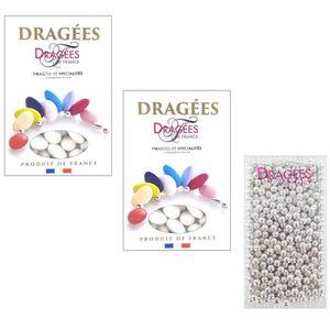 DRAGÉES DRAGEES DE FRANCE Sélection dragées amande blanc +