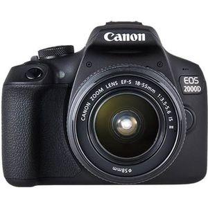 APPAREIL PHOTO RÉFLEX CANON EOS 2000D 24,1 mégapixels - Wi-Fi - NFC + Ob