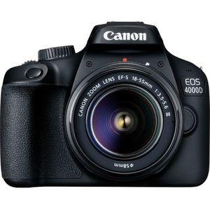 APPAREIL PHOTO RÉFLEX CANON EOS 4000D 18 mégapixels - Wi-Fi + Objectif E