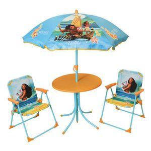 MATELAS GONFLABLE VAIANA Salon de jardin composé d'une table, de 2 c