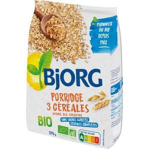 CÉRÉALES PETIT DEJ  Mélange de céréales pour porridge 375g Bjorg