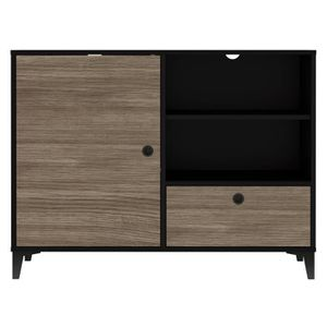 BUFFET - BAHUT  FINLANDEK Buffet bas JONES - Industriel - Noir mat