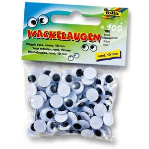 10 wackelaugen 28mm auto-adhésif Noir//Blanc//magasin de fournitures pour enfants//école