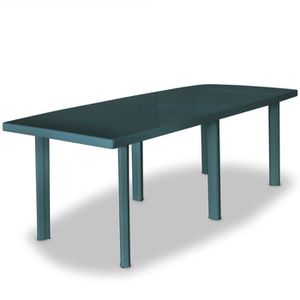Table de jardin en plastique vert - Achat / Vente Table de ...