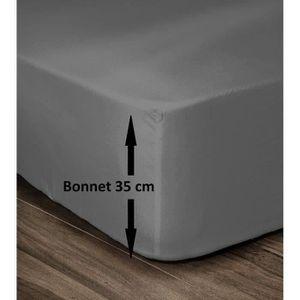 DRAP HOUSSE LOVELY HOME Drap Housse 100% Coton 90x190cm - Bonn