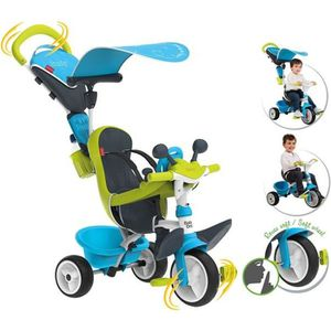 TRICYCLE SMOBY Tricycle Baby Driver Confort Evolutif Bleu