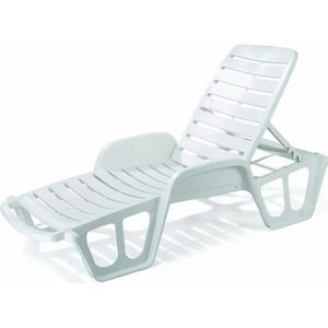 chaise longue transat blanc achat vente chaise longue transat blanc pas cher soldes. Black Bedroom Furniture Sets. Home Design Ideas