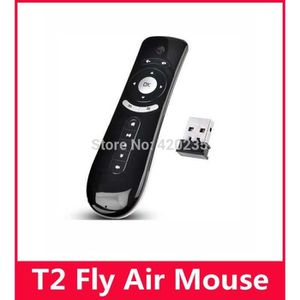 CLAVIER D'ORDINATEUR Clavier Gyroscope mini-Fly Air Mouse T2 2.4G Wirel