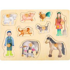 PUZZLE forme puzzle Ferme bois junior 9 pièces