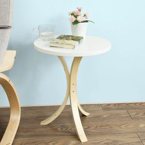 TABLE D'APPOINT SoBuy® FBT29-W Guéridon Table d'appoint ronde 3 pi