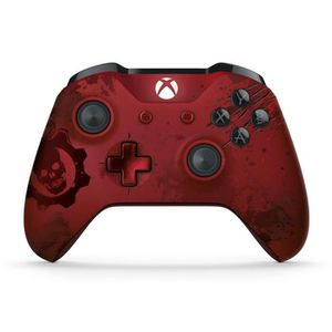 MANETTE JEUX VIDÉO Manette Xbox One S Sans Fil Gears of War 4 Crimson