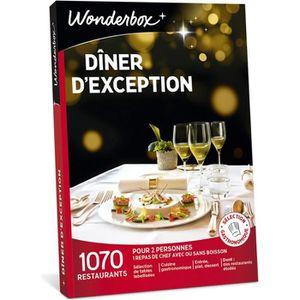 COFFRET GASTROMONIE Wonderbox - Coffret cadeau pour deux - Dîner d'exc