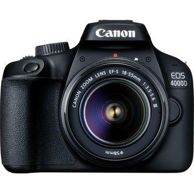 CANON EOS 4000D 18 mégapixels - Wi-Fi + Objectif EF-S 18-55 III Appareil Photo Reflex- DC